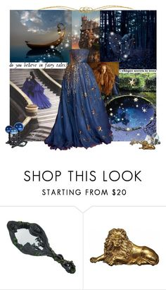 """In the Blue Veil of the Night"" by seafreak83 on Polyvore featuring Christian Dior, Valentino and Branca"