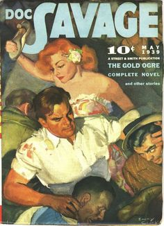 Doc Savage May 1939  Emery Clarke Cover