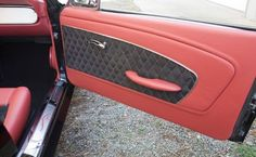 Interior in the 1966 Ford Mustang Convertible is complete! Camaro Interior, Mustang Interior, Ford Mustang Convertible, 1966 Ford Mustang, 1964 Ford, Custom Car Interior, Interior Ideas, Car Interior Upholstery, Custom Camaro