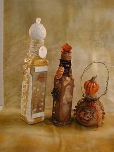 Bottle art by Bonnie Jones