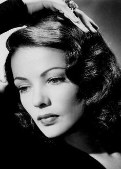 """Gene Tierney looking stunning. One of my favorite photos of her. Can't recall the number of times I've seen """"Laura"""" and """"Leave Her to Heaven"""""""
