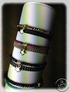Bracelet cristal et ruban à composer par ByVibi sur Etsy