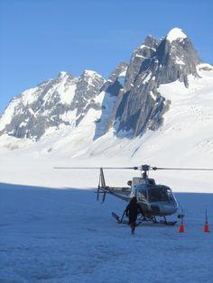 Alaska helicopter ride to top of glacier