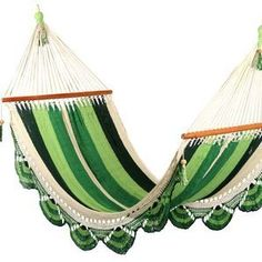 Luxury Handmade Hammock - Mixed Green - Large Size