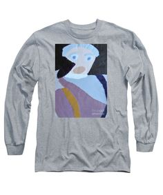 Patrick Francis Designer Long Sleeve Heather T-Shirt featuring the painting Portrait Of A Lady by Patrick Francis