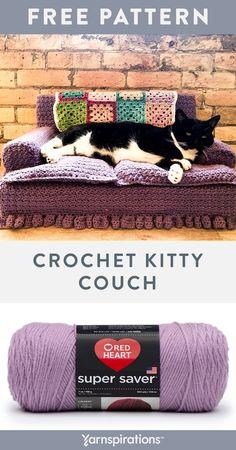 Gato Crochet, Crochet Cat Pattern, Easy Crochet Patterns, Macrame Patterns, Free Pattern, Crochet Home, Crochet Gifts, Free Crochet, Knit Crochet