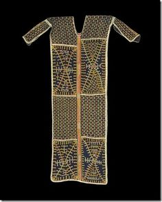 Superb ceremonial tunic from the Wodaabe people of Niger.