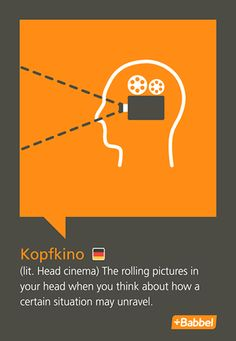 """Love German: what's a better way to describe continuous negative self-think that you have in your head other than """"head cinema"""""""