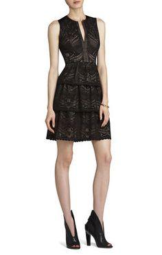 Katryn Sleeveless A-Line Dress   BCBG