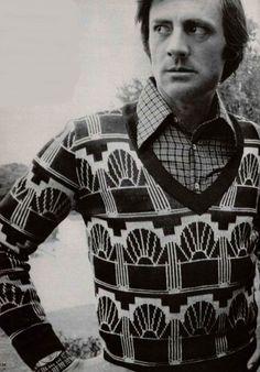 Vintage men's Cacharel sweater, 1973.