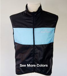 The Noordwijk Vest - Road Holland Cycling Apparel and Accessories. In black and Carolina blue. What's not to love?