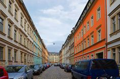 Neustadt will give you a look at modern day Dresden, and see how the locals live and enjoy their city today - vegan food, urban parks, markets. Central And Eastern Europe, Urban Park, Dresden, The Locals, Places Ive Been, Traveling, Germany, Street View, Country