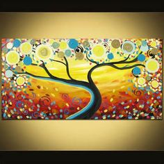 tree paintings on canvas - Bing Images