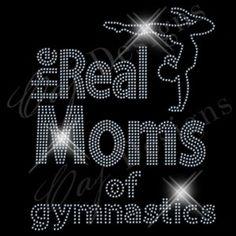 CAJ RM105 Gymnastics. Rhinestone design template.