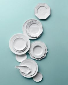 White china distinguished by texture. Love.