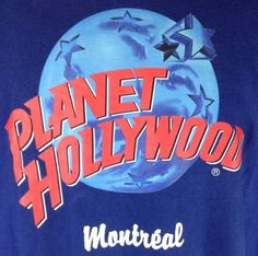 Planet Hollywood T-Shirt XL Mens Montreal Blue Vintage #PlanetHollywood #GraphicTee