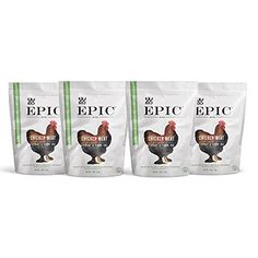 Epic Jerky Bites, 100% Natural Chicken, Currant, Barbeque, 10 Oz - Pack of 4 ** Click sponsored image to review more details.