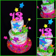 Paint Splatter Cake | Flickr - Photo Sharing!