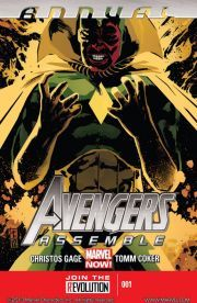 Avengers Assemble Annual #1    The spotlight falls on the Vision! It's the return of Sunturion-- more powerful and unstable than ever! A major turning point in the life of the android Avenger!