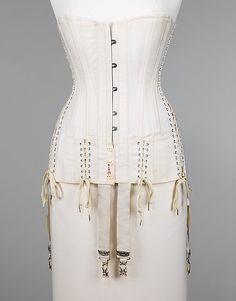 [American] Cotton (Maternity) Corset (1915)