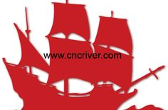 Pirate Ship #CNC #Lasercutting #Laser #DXF #Coraldraw #Vector #CNCvector #2D #FreeDXF #CNCart  #Plywood #Acrylic #MDF