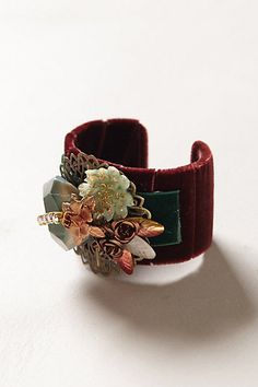 Misselthwaite Cuff #anthropologie. get a cuff, wrap it in velvet, and add various pins and gems...