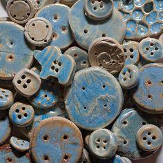 Opal Ceramic Buttons