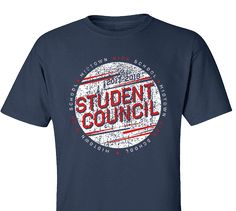 High School Impressions SC-127-w; Custom Student Council T Shirts, - Create your own design for t-shirts, hoodies, sweatshirts. Choose your Text, Ink and Garment Colors