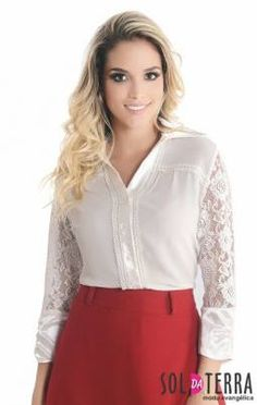 7ef6eee24 21 melhores imagens de Blusas | Design de blusas, Moda mulhere e ...