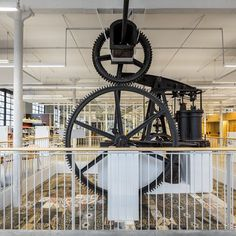 This council library is located in the main room of the warehouse Can Manyer, which is an old textile plant from the nineteenth century. Fabre, Home Appliances, Architecture, Building, Interior, Large Sheds, Architects, House Appliances, Arquitetura