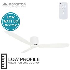 Beacon lighting airfusion radar 132cm low profile dc fan only in mercator lima dc ceiling fan white 52 fansonline australia mozeypictures Choice Image
