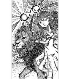 Tarot Card Art Print of Strength 8x10 Print  of by treetalker, $18.00
