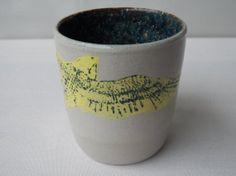 Yellow Bird Flying Mug with Handle, Falcon