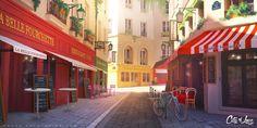 ArtStation - City of Love background, Sylvain Sarrailh
