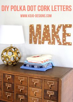 DIY cork letters - for that roll of cork that has been in my basement for too long...  kojo