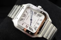 Cartier Santos – our hands on review Freida Pinto, Cartier Santos, Square Watch, 40 Years, Hands, Watches, Celebrities, Accessories, Fashion