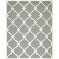 Shop for Safavieh Handmade Cambridge Dark Grey/ Ivory Wool Rug (10' x 14'). Get free shipping at Overstock.com - Your Online Home Decor Outlet Store! Get 5% in rewards with Club O!