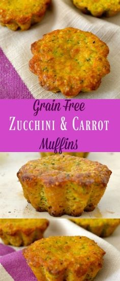 This is a Grain Free Zucchini And Carrot Muffins recipe. Healthy ingredients, nutritious vegetables, and about 30 minutes is all it takes for a delicious treat your whole family will enjoy. These m… (Vegan Gluten Free Zucchini) Healthy Zucchini, Healthy Grains, Healthy Snacks, Healthy Recipes, Healthy Muffins, Healthy Vegetables, Zucchini Carrot Muffins, Gluten Free Carrot Muffins, Savory Muffins