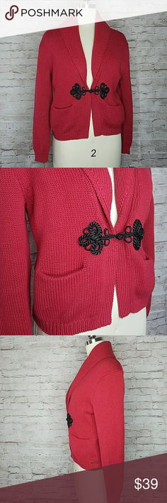 Denim & Supply Ralph Lauren red knit cardigan Up for consideration is a pre-owned women's Ralph Lauren sweater. This red sweater is in great used condition, showing signs of normal wear.  / Bin BB / Denim & Supply Ralph Lauren Sweaters Cardigans
