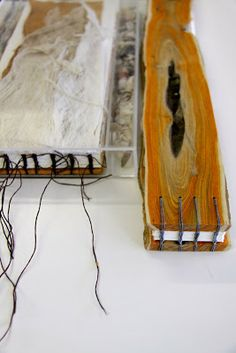 Susan Bowers tracemarks  -   a book made out of Conkerberry Wood with embossed pages