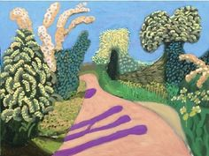 David Hockney | The Daily Norm Using his iPad and the Brushes to create awesome art