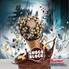 Krrish 3 Choco Block #Krrish3 #icecream #chocolate #nuts #cone