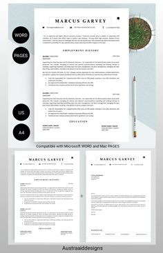 Cover Letter Format, Cover Letter Template, Letter Templates, Modern Resume Template, Resume Design Template, Application Letters, Professional Resume, A Team, Lettering