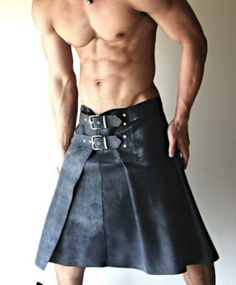 MEN'S PANT ALTERNATIVE this done in Leather would eeefffing kick ass. Now to find a man to were it! ;)