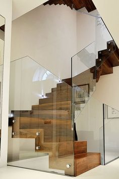 Modern staircase wall design curved wall decor best curved staircase home. Stairs Balusters, Glass Handrail, Glass Stairs, Glass Balustrade, Stair Railing, Steel Handrail, Glass Walls, Railing Design, Staircase Design
