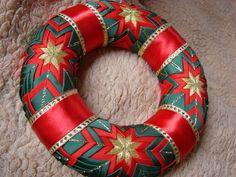 Dekorácie - vianočný patchworkový venček - 898194