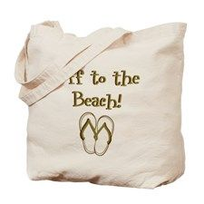 2 Sided Off to the Beach Tote Bag