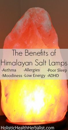 The Benefits of Himalayan Salt Lamps - Did you know himalayan salt lamps release negative ions that have the ability to uplift mood, improve sleep, and even relieve allergies?