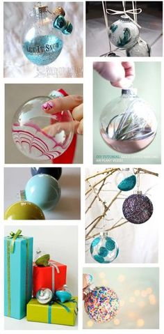 15 christmas baubles ideas diy timefordeco diy pinterest make your holidays 8 diy glass ornaments the diy adventures upcycling recycling solutioingenieria Images
