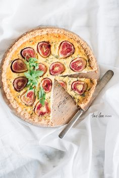 Fig Goats Cheese Almond Meal Tart - grain free base Two Loves Studio, food photography, food styling Tart Recipes, Almond Recipes, Sweet Recipes, Cooking Recipes, Quiches, Brunch, Homemade Desserts, Goat Cheese, Cheese Food